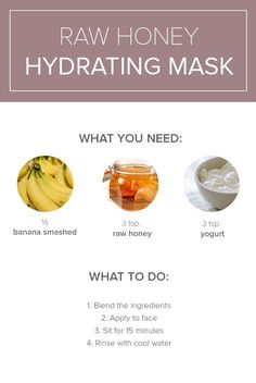 Make a homemade hydrating face mask for dry skin and acne by following this at home recipe.