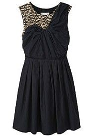 Love the faux one-shoulder look... especially with all the beading.