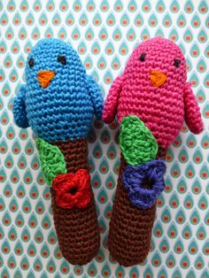 Free crochet pattern for birdie rattle