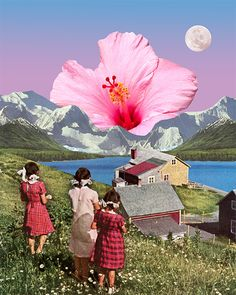 Bloom of youth, collage artist Karen Lynch