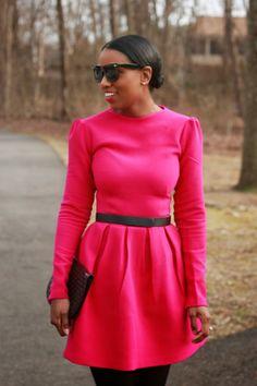 Fuschia wool dress « Mood Designer Fabrics Sewciety Blog