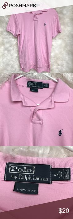 Men's Polo By Ralph Lauren Polo Shirt Men's Pink/Navy Blue Polo By Ralph Lauren Polo Shirt. Polo is a size small. It has been worn a few times, but is still in excellent condition! Perfect for summertime. Great for dressing up or just a casual look! Open to offers! ☺️ Polo by Ralph Lauren Shirts Polos