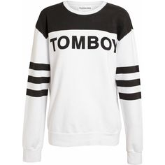 FILLES A PAPA 'Tomboy' Motif Cotton Sweatshirt (€190) ❤ liked on Polyvore featuring tops, hoodies, sweatshirts, sweaters, shirts, sweatshirt, jumpers, stripe shirt, striped cotton shirt and longsleeve shirt