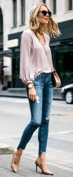 65d5ec919db  spring  outfits Loving This Soft Blush Top For Spring And It s Only  45!