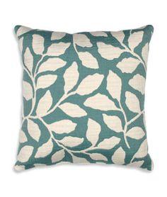 "OFS 16"" x 16"" Larose Blue Foliage Decorative Pillow - $16.95 | onlinefabricstore.net"