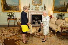 Mrs May had her first official audience with the Queen after David Cameron went in to tender his resignation