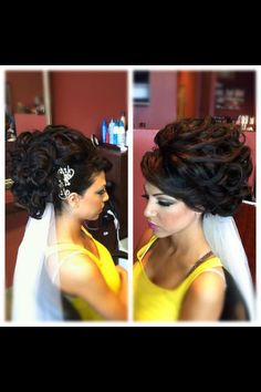 Perfect bridal updo, Houda Bazzi