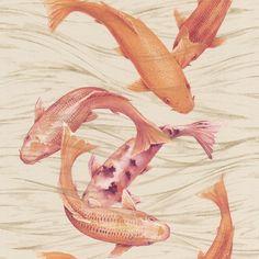 koi karper vissen vlies behang xx52