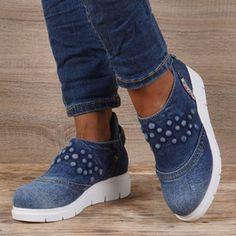 Pantofi dama din blugi EMANI 9611