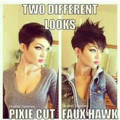 how to style a pixie haircut two different ways                                                                                                                                                      More