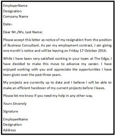 proper care is to be employed to ensure professional standards of the resignation letters