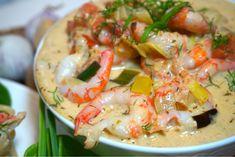Krämig räkpastasås Swedish Recipes, Deli, Seafood Recipes, Shrimp, Food And Drink, Low Carb, Salad, Healthy Recipes, Snacks
