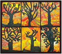 november bulletin board ideas for teachers | Fall Art Project Ideas