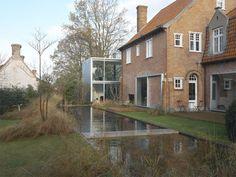 Boxy kitchen pavilion and house, Deurle 2003, Maarten Van Severen