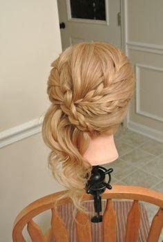 Formal hair, wedding hair, bridesmaid hair, prom hair Hair by Christy: Simply Captivating On-Site Beauty Services, PGH, PA Follow me on FB! braid
