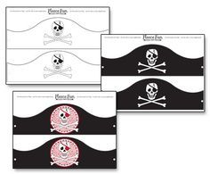 The Best Free Pirate Theme Printables ♥ Fleece Fun Pirate Hat Crafts, Pirate Hats For Kids, Pirate Costume Kids, Pirate Decor, Pirate Day, Pirate Birthday, Pirate Theme, Pirate Hat Template, Pirate Activities