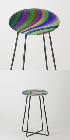 Color Curves Counter Stool by David Zydd #BestCounterStools #Home #CounterStool #Print #Decor #Curves #Seating (tags: christmas, kitchen, gift, designer, stool, seating, gift ideas, decoration, room, xmas, home decor, product, apartment, counter stool, print-on-demand, decor)