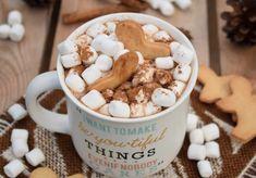 Gorąca czekolada z cynamonem i korzennymi ciasteczkami - DoradcaSmaku.pl Fudge, Oreo, Smoothies, Caramel, Cereal, Chocolate, Breakfast, How To Make, Food