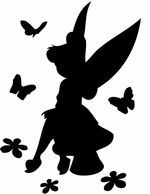 1000 images about fairy silhouettes vectors clipart - Fee clochette ombre ...