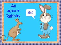 """FREE SCIENCE LESSON - """"All About Rabbits Task Cards"""" - Go to The Best of Teacher Entrepreneurs for this and hundreds of free lessons.  http://thebestofteacherentrepreneurs.blogspot.com/2012/03/free-science-lesson-all-about-rabbits.html"""