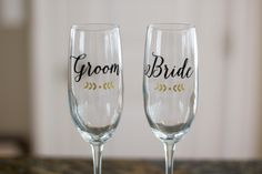 Who Buys Champagne Flutes for Bride and Groom? | #brideandgroom #champagne #champagneflutes #champagneglasses #etsy #gifts #monogram #mr.andmrs. #personalizedchampagneglasses #personalizedtoastingflutes #planning #reception #toast #tradition #waterfalldesigns #weddingadvice #weddingtoasting | who buys champagne flutes for bride and groom? - ask emmaline | wedding advice