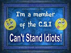 Member of the C.S.I. Team