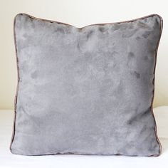 Faux Suede & Copper Cushion Cover | grey suede and metallic copper cushion | pillow | home decor | luxurious cushion cover | elegant
