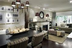 Simple dinning family room layout