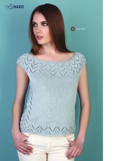 jednoducha bluzka z prize saten Knitting Stitches, Knitting Patterns Free, Knit Patterns, Débardeurs Au Crochet, Summer Knitting, Womens Fashion, Sweaters, Outfits, Clothes