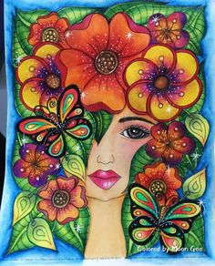 African Art Paintings, Fantasy Paintings, Poppy Flower Painting, Flower Art, Painted Bricks Crafts, Wal Art, The Art Sherpa, The Joy Of Painting, Summer Painting