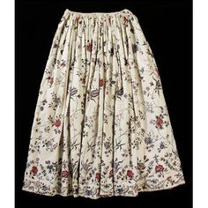 India for the Western market - Petticoat - Painted and dyed cotton chintz 18th Century Dress, 18th Century Clothing, 18th Century Fashion, Historical Women, Historical Clothing, Hijab Fashion Inspiration, Style Inspiration, 1700s Dresses, Historical Costume