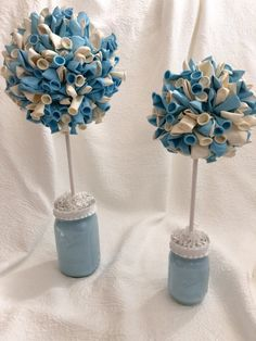 Baby Shower Its a Boy First Birthday Party Centerpiece Balloon Topiary One Topiary Balloon Baby Bl
