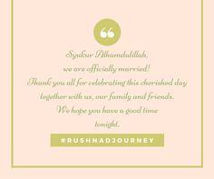 Doorgift Tag | #Rushnadjourney Wedding
