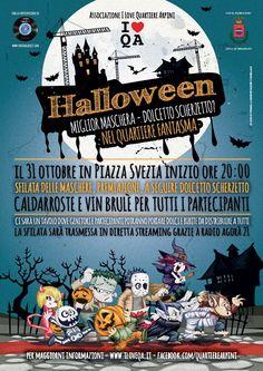 Locandina Festa Halloween 2015 per Ass. I Love Quartiere Arpini