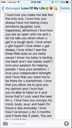 A paragraph to your girlfriend