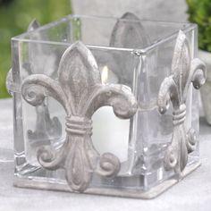 Fleur de Lis Candleholder  #fleur_de_lis #candle_holder