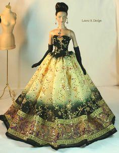 fashion doll, Tonner doll, beautiful dress