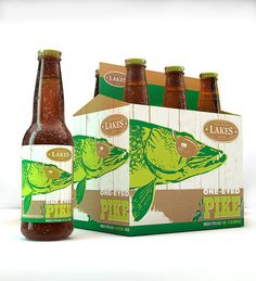 One-Eyed Pike by Jon Loss of Adventure Advertising. Love this since I love fishing. For all our beer loving #packaging peeps. PD