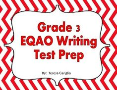 In order to prepare my students for the EQAO Writing Multiple Choice portion, I looked through previous EQAO tests and found that every year the questions follow the same strands.   In this product, there are sorting activities and a follow-up worksheet for each of the following sections of every EQAO multiple choice:  joining sentences, opening sentences, closing sentences, sentence order, main idea, quotation marks, what doesnt belong and punctuation.