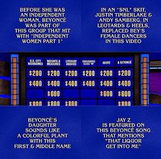 The Beyhive has made it to jeopardy