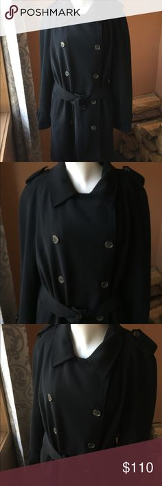 Anne Klein trench coat double breasted extra liner Very nice double breasted trench coat with warm liner.  Like new, no flaws.  Cover shot is very similar but not the exact coat, I couldn't find it.  See additional photos. Anne Klein Jackets & Coats Trench Coats