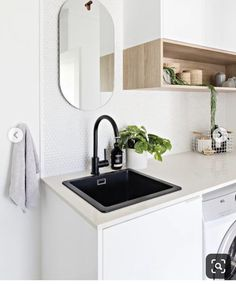 Home Renovation, jaw dropping and resourceful post reference 5234868187 - Into Do It Yourself room makeover tips and help. Laundry Decor, Laundry Room Design, Laundry In Bathroom, Laundry Storage, Laundry Tubs, Small Laundry, Interior Desing, Interior Design Living Room, Living Room Designs