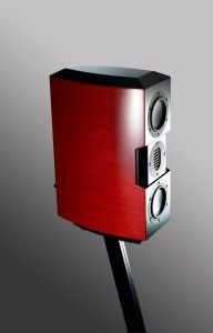 MMMicroOne on Stand at $2,500/pr, this is the speaker for cool looking rooms