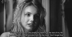 "Cassie - Skins ""You're the first person who broke my heart. For the rest of my life , you will always be the one that hurt me the most. Don't forget that. Cassie Skins, Skins Uk, Skins Quotes, Film Quotes, Thoughts And Feelings, Deep Thoughts, Attitude, Quotes Arabic, Movies And Series"