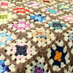 Image result for granny square afghan pattern autumn tones