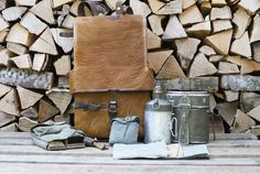 A very special set of Swiss Army items from Era, all belonging to the same soldier, including an Swiss Army animal hide rucksack, Swiss Army bread bag and accessories. Swiss Army Bag, Swiss Army Backpack, Army Rucksack, Vintage Backpacks, Ink Stamps, Cloth Bags, Ww2, Bread, Metal
