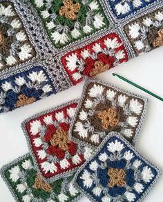 # 19 # – # # Knitting-Crochet-Baby # I couldn't resist # 🙈😉 – crochet pattern Baby Afghan Crochet, Granny Square Crochet Pattern, Afghan Crochet Patterns, Crochet Squares, Crochet Motif, Crochet Yarn, Crochet Stitches, Granny Squares, Diy Crafts Crochet