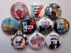 Twenty One Pilots Pinback Button 21 Pilots Button by BigButtonBoy, $3.99