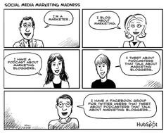 the hierarchy of marketers on social media ;)
