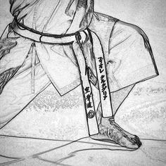 #zeichnung #drawing #karate #karatedo #shotokan #dojo #dan #meistergrad #budoka #schwarzgurt #kuroobi #blackbelt #zenkutsudachi http://ift.tt/1NFeDkK www.taikikan.de